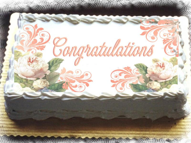 Rectangle Birthday Cakes With Flowers Top blue strawberry heart images ...